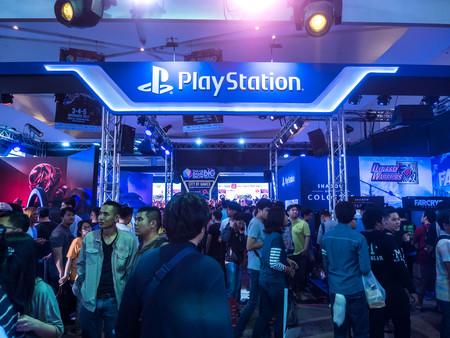 THAILAND - 4 November 2017:  Boots games by PlayStation 4. Mounted displays at Thailand game show big festival 2017 in ROYAL PARAGON HALL, Bangkok Thailand. Editorial