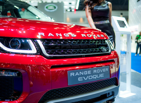 Thailand International Motor Expo 2018 Bangkok - APRIL 6, 2018 : Presenting the Range Rover car in the 39th Bangkok interanational motor show 2018