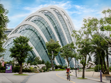 Singapore - NOV 27, 2018: Building in the park Gardens by the Bay, Flower dome Singapore.