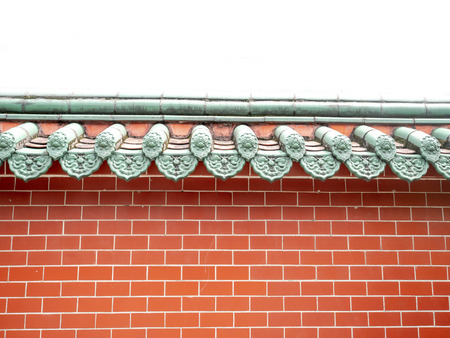 Chinese temple wall, red brick wall