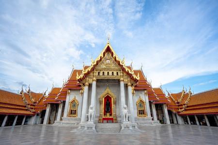 El templo de mármol, Wat Benchamabopitr Dusitvanaram Bangkok, Tailandia (el templo de mármol) Editorial