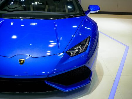 Thailand Motor show 2019 Bangkok - April 3, 2019: Lamborghini super car on display at the 40th BANGKOK MOTOR SHOW 2019 on April 3, 2019 in Bangkok, Thailand. Redakční