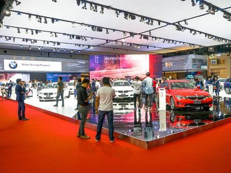 Thailand Motor show 2019 Bangkok - April 3, 2019: Masda event with new car in motor show 2019 exhibition, Thailand.