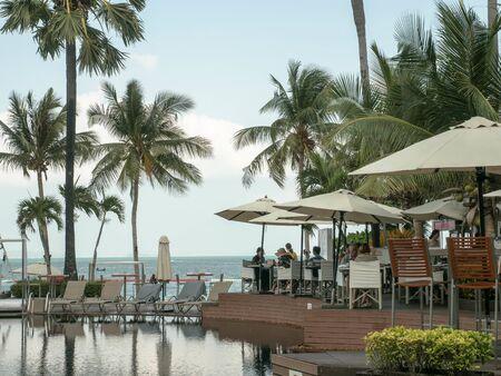 Pattaya, Thailand - March 7, 2019: Swim Pool Pullman hotel Pattaya Thailand.