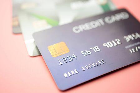 Credit card close up shot for background,Finance concept, Finance concept.