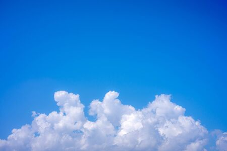 White cloud and blue sky, Nature background.