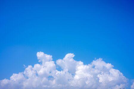 Light blue sky clouds soft background