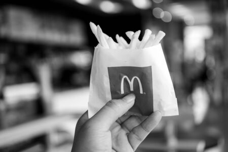 BANGKOK, THAILAND, December 12, 2019: McDonalds French Fries.