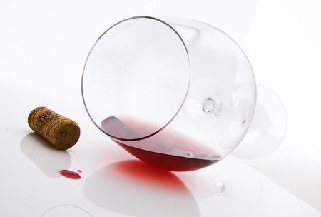 stopper: Red wine and cork stopper