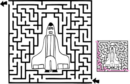 One beginner-level space adventure themed maze with solution.