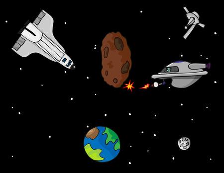 booster: Una aventura de exploraci�n de fantas�a en el espacio ultraterrestre con un transbordador espacial, v�a sat�lite, espacio extraterrestre y asteroides.