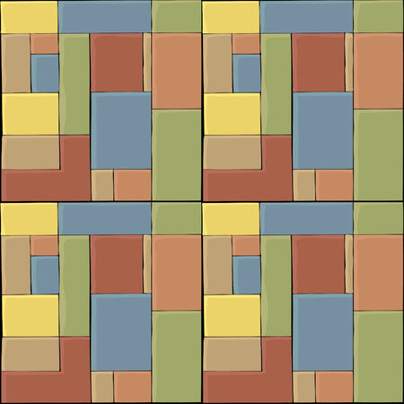 A colored tile seamless pattern for backgrounds and wallpaper.