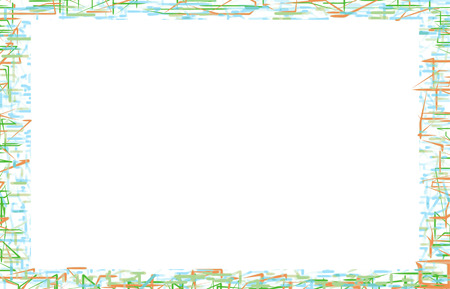 stationery border: Wild and electric neon glow with white background border