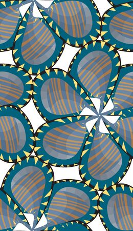 jagged: Seamless striped and jagged edge pinwheel flower pattern
