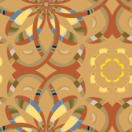 wallpaper: Seamless wallpaper pattern based on from North African motifs and European Middle Ages colors