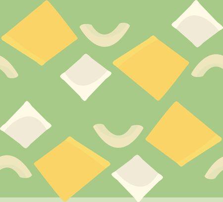 Seamless pattern of ravioli and elbow noodles Иллюстрация