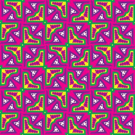 Naadloze abstract patroon van gele, groene en roze vlinders