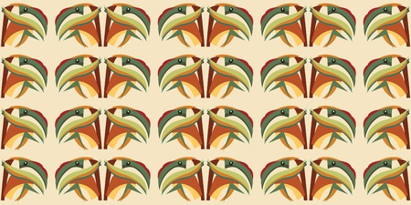 Seamless abstract wallpaper background pattern of a tropical parrot head 向量圖像