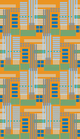 Seamless background pattern of various rectangles in multiples of four Vector