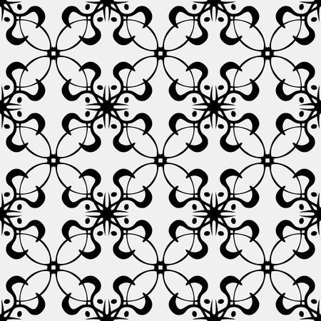 派手なループと曲線のシームレスな壁紙の背景パターン