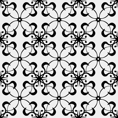 grey pattern: Seamless wallpaper background pattern of fancy loops and curves
