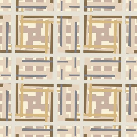 Intersecting boxes and lines seamless background pattern