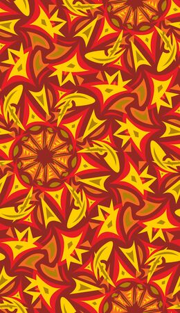 Seamless pattern in autumn spark colored objects for backgrounds Vector