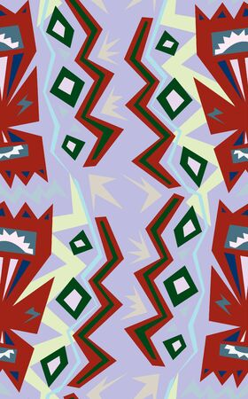 jagged: Jagged colorful shapes in a seamless background pattern.