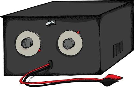 circuitos electricos: Sustituci�n caja para probar la resistencia y la capacidad en los circuitos el�ctricos.