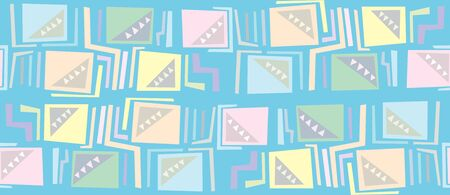 Seamless background pattern of squares, right angles and triangles Vector