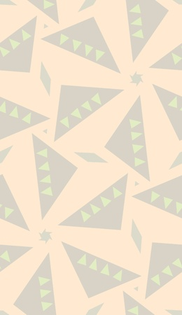 Seamless brown triangular kaleidoscope background pattern