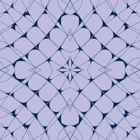 Blue geometric web pattern as seamless background Ilustração