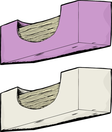 Worms eye view of unbranded generic facial tissue boxes Vector