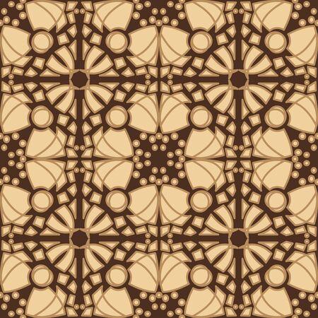 Brown tiles pattern for seamless wallpaper background Иллюстрация