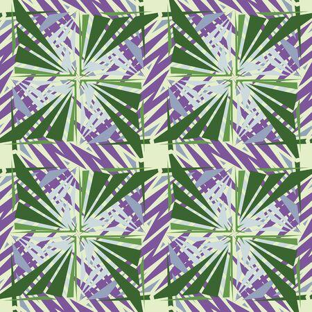 Seamless square green pinwheels in background wallpaper pattern Illustration