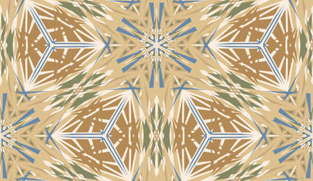 Seamless kaleidoscope camouflage pattern for background or wallpaper Vector