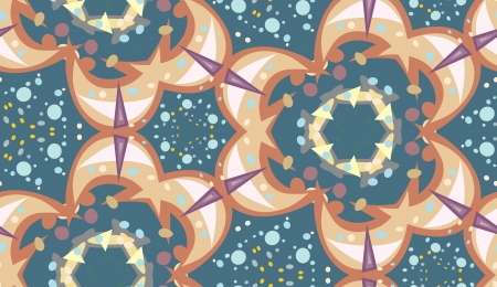 Seamless wallpaper pattern of lovely sparkles and dots Vector
