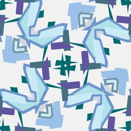Seamless background pattern in blue and green shapes Stock Vector - 15190203
