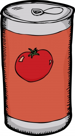 Generic tomato juice can over white background Stock Vector - 15298278
