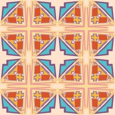 Seamless block geometric pattern for wallpaper backgrounds