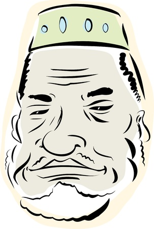 Senior Muslim man with beard over white background Vector