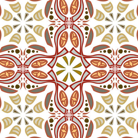 concave: Seamless symmetrical background pattern with hook shapes Illustration