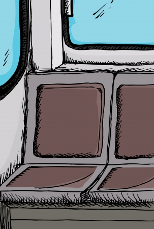 Public transit bus or train empty seats detail illustration  Vector