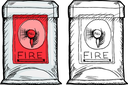 Isolated fire alarm box in plastic case