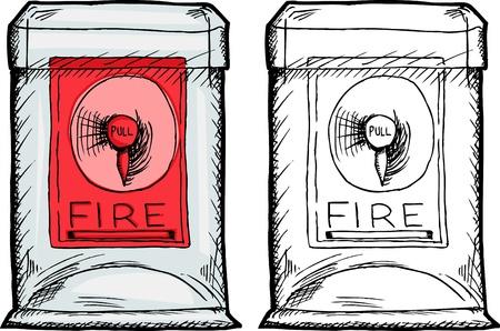 case: Isolated fire alarm box in plastic case