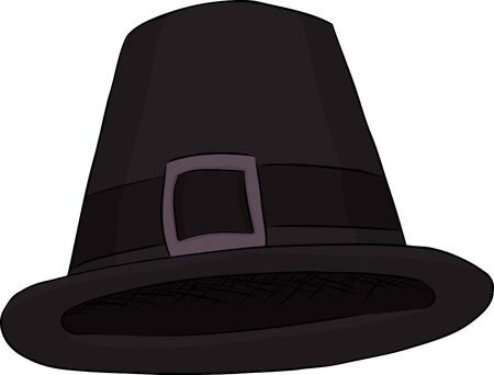 Isolated cartoon of a black pilgrim hat Stock Vector - 17173053