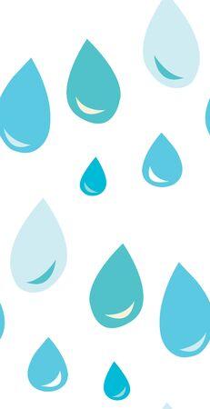 Naadloze achtergrond patroon van waterdruppels