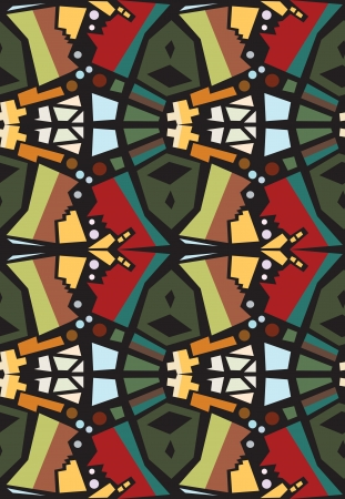 Seamless background pattern of mirrored faces