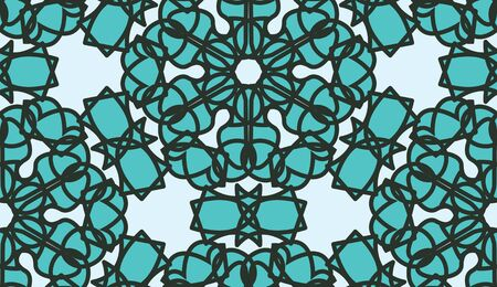 stained glass: Blue stained glass seamless background vector Illustration
