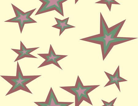 five stars: Seamless background pattern of five pointed stars Illustration